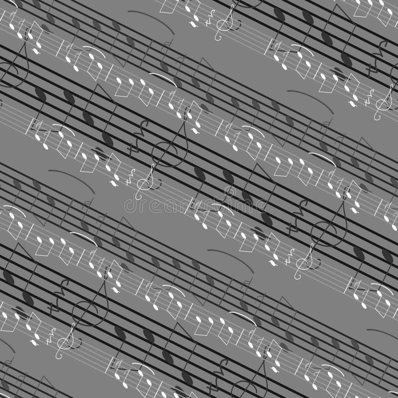 muzyki bezszwowy deseniowy ilustracji