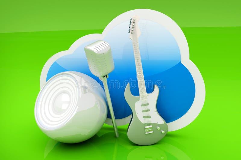 Download Muzyki chmura ilustracji. Ilustracja złożonej z grafika - 28963314