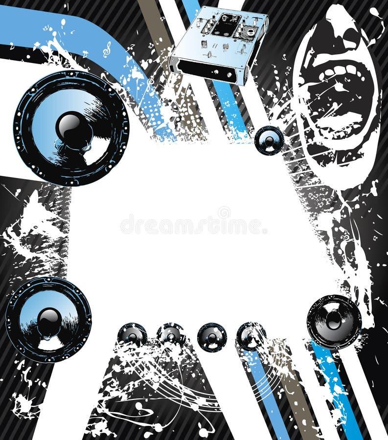 Download Muzyki graficzna skała ilustracja wektor. Obraz złożonej z wystrzał - 10578434