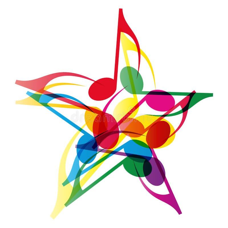 muzyki gwiazda ilustracja wektor