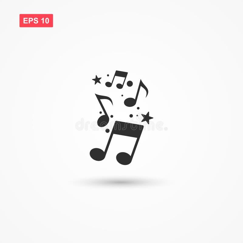 Muzyki ikony notowany wektor z gwiazdą ilustracja wektor