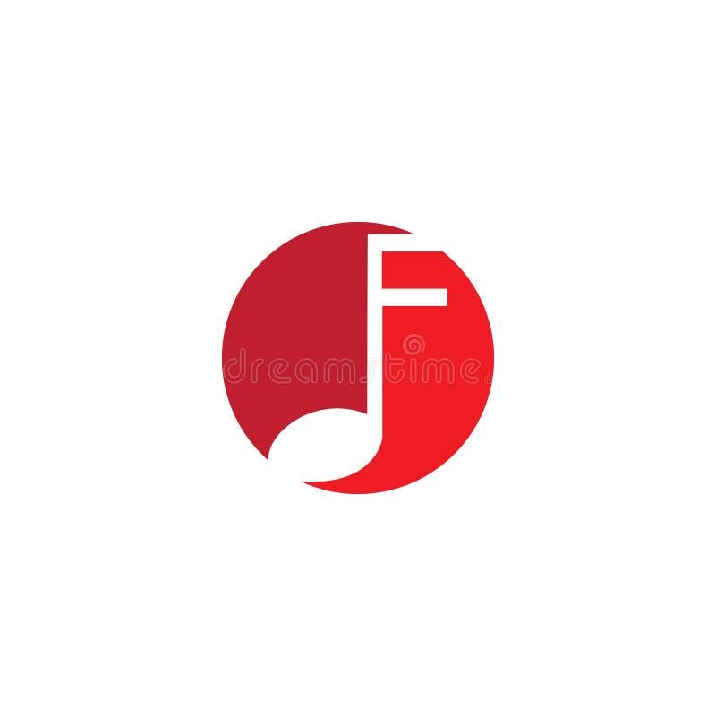 Muzyki ikony wektoru nutowa ilustracja ilustracji