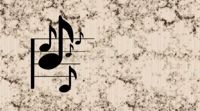 muzyki notatka ilustracja wektor