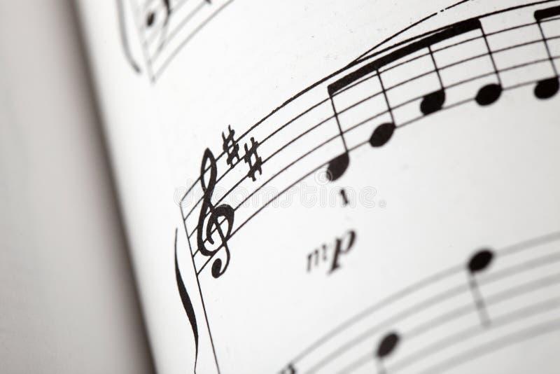 muzyki notatka fotografia stock