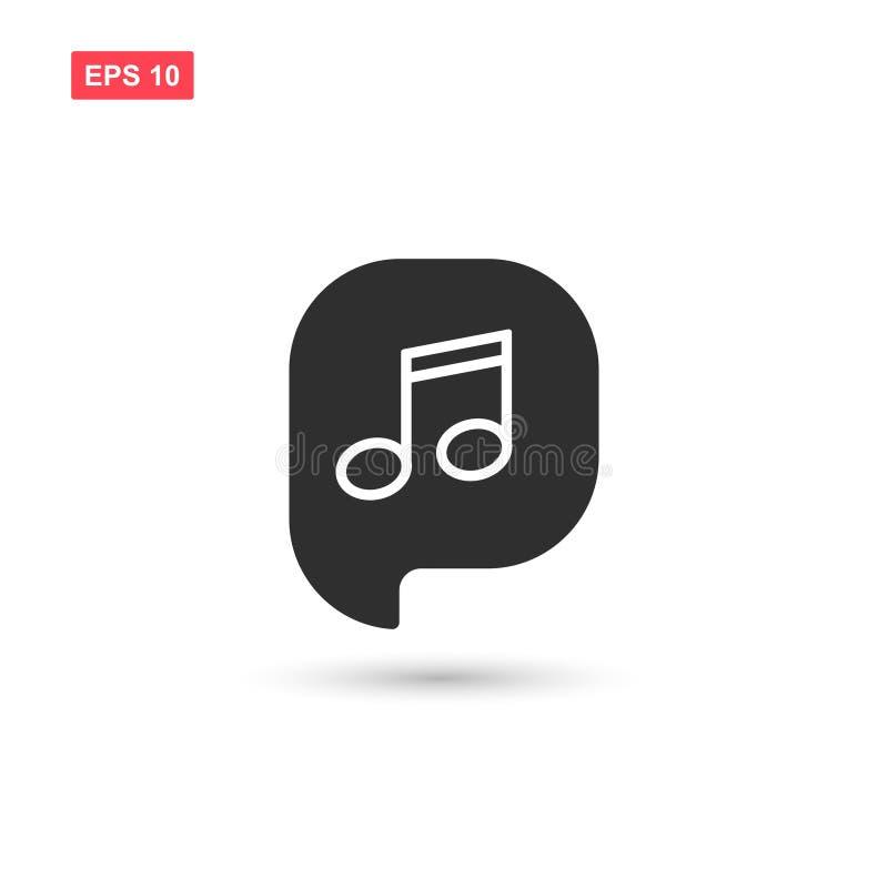 Muzyki notatka z bąbel ikony wektorem odizolowywającym ilustracja wektor