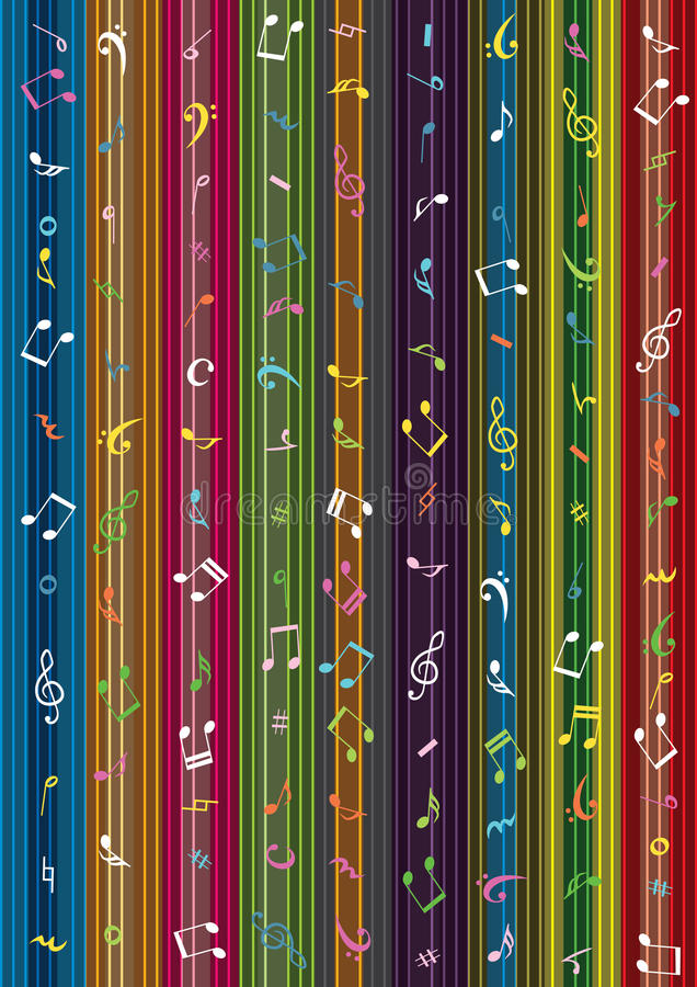 Muzyki notatki lampasa zasłona Background_eps ilustracji