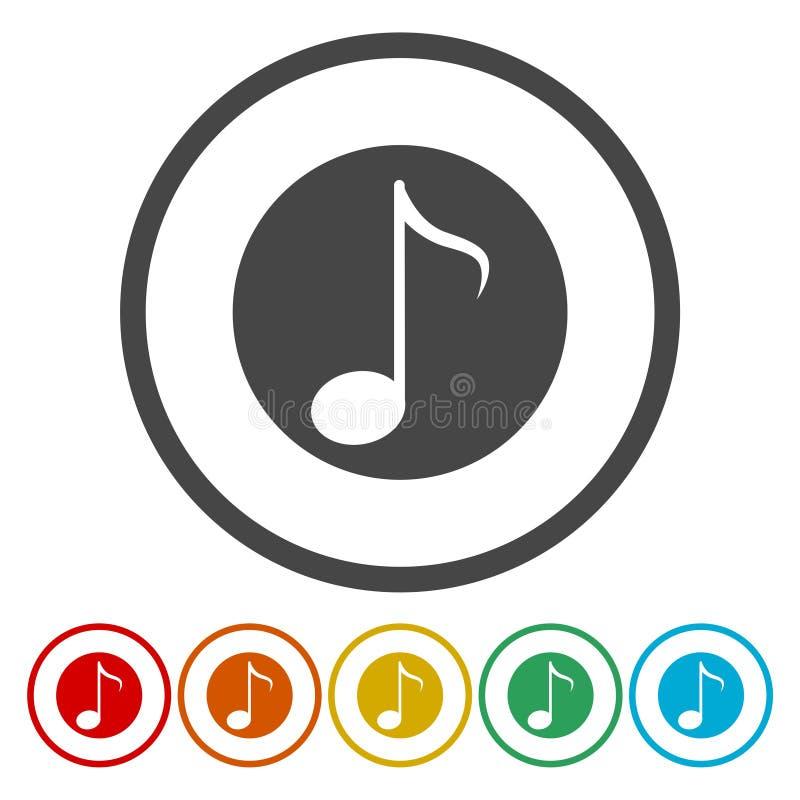 Muzyki notatki znaka ikona symbol muzyczny ilustracji