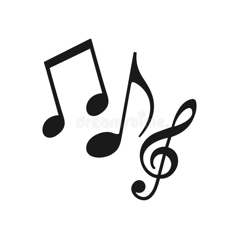 Muzyki Nutowa ikona Muzyki ikony loga nutowy wektor royalty ilustracja