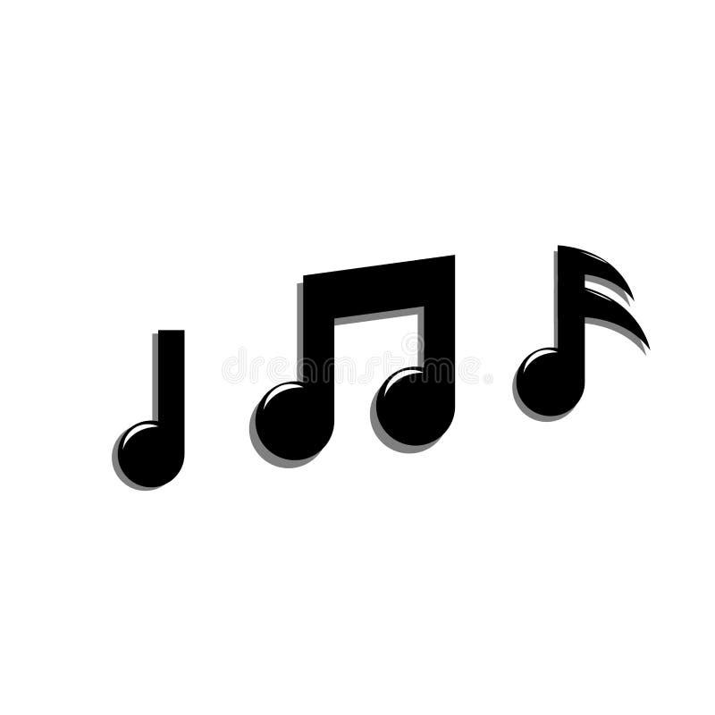Muzyki nutowej ikony wektorowy projekt royalty ilustracja