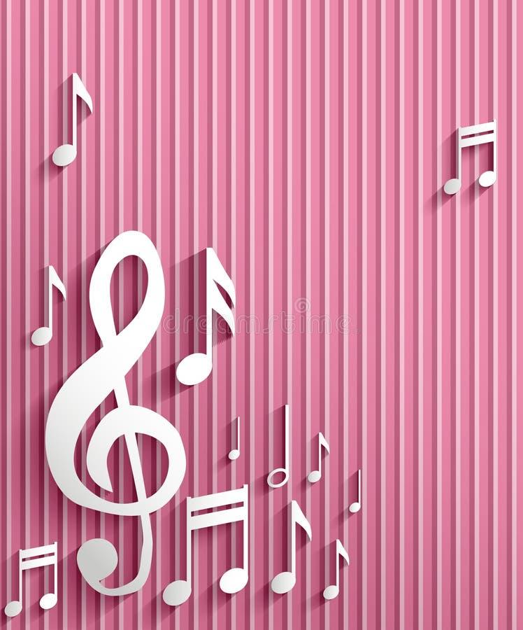 Muzyki nutowy tło ilustracji