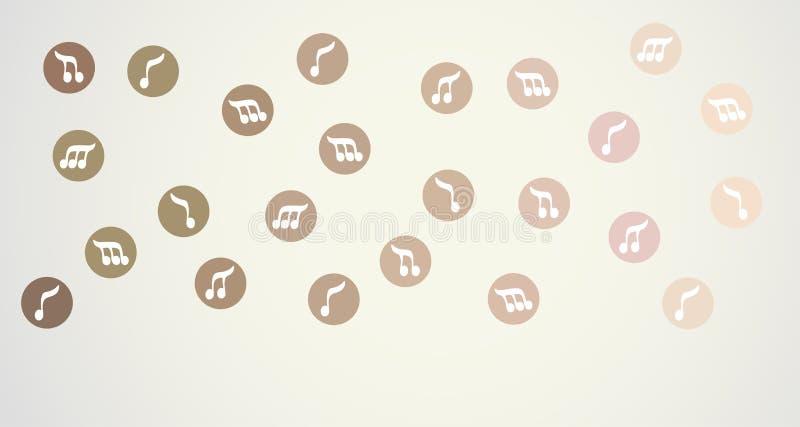 Muzyki pokrywa royalty ilustracja