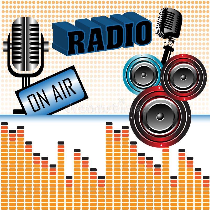 muzyki radio ilustracji