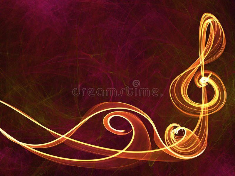 Muzyki szyldowy abstrakcjonistyczny tło ilustracja wektor