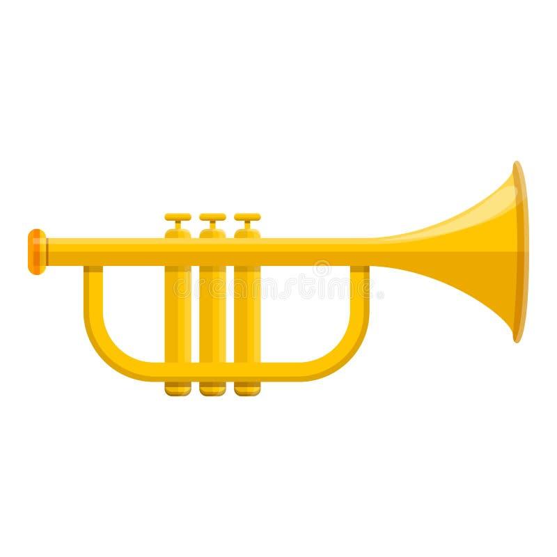 Muzyki tubowa ikona, kreskówka styl royalty ilustracja