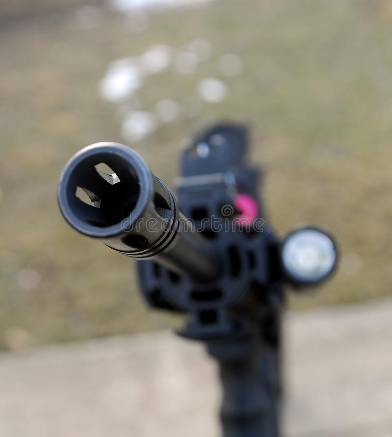 Rifle muzzel stock photography