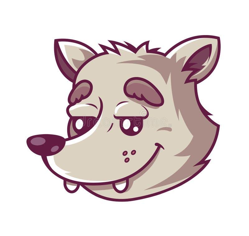 Muzzle wolf. cute character stock illustration