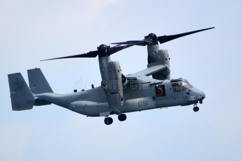 MV-22 Osprey Demonstration at the Chicago Air and Water Show royalty free stock photos