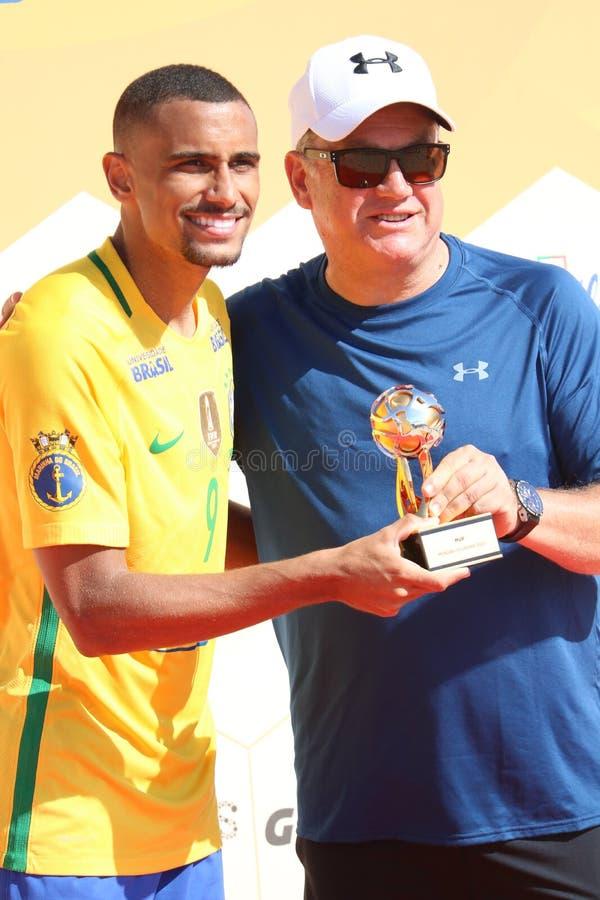 MVP gracz - Mundialito 2017 Carcavelos Portugalia zdjęcia royalty free