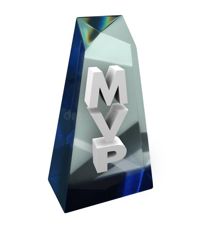 MVP najwartościowszego gracza nagrody Nagrodzonego honoru Najlepszy członek zaspołu ilustracja wektor