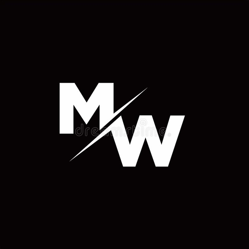 MW Logo Letter Monogram Slash With Modern Logo Designs