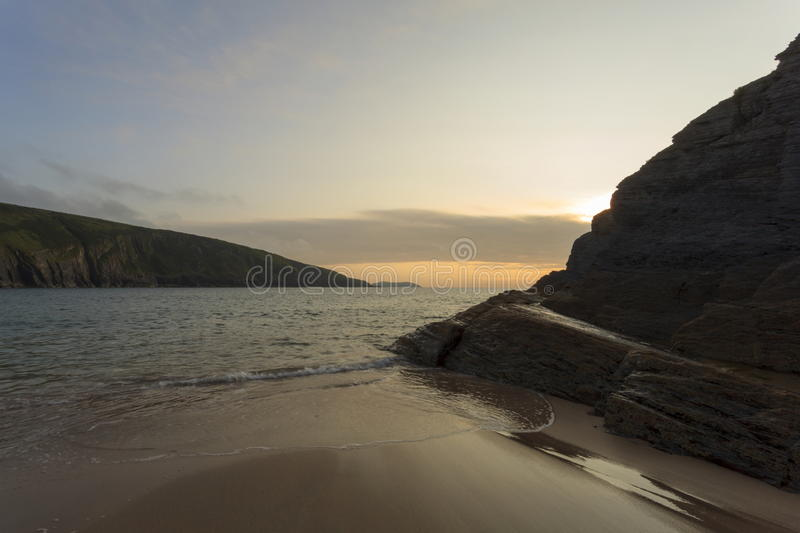 Mwnt beach. Late Summer`s day at Mwnt beach royalty free stock photo