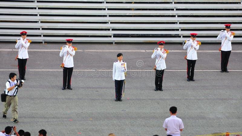 MWO Jennifer Tan leading the parade at NDP 2011