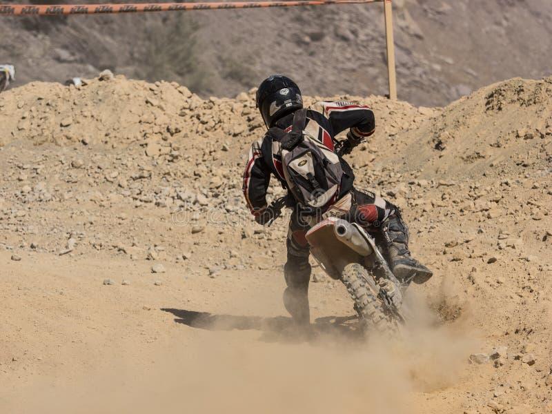 MX摩托车越野赛在竞争中 库存图片