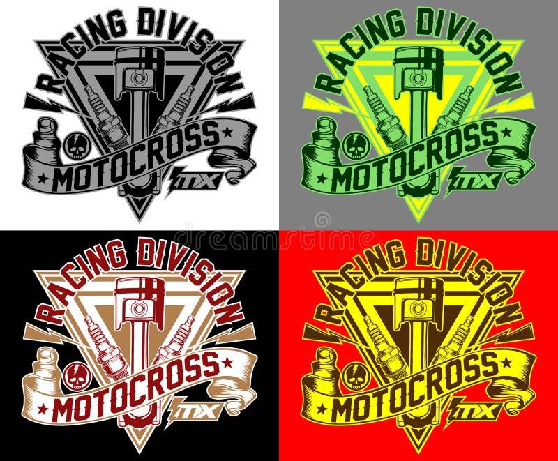Mx разделения гонок Motocross стоковые фото
