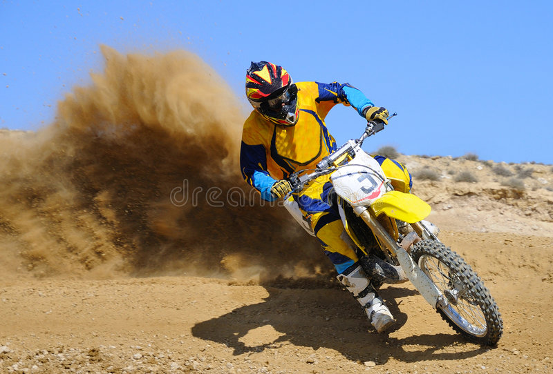 MX3. Rider number 3 driving on championship royalty free stock photos