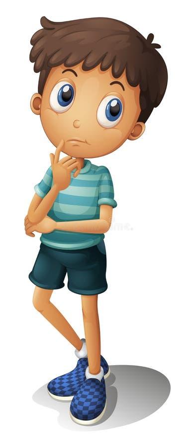 Myśląca chłopiec ilustracji