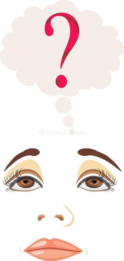 Myśląca dziewczyna royalty ilustracja