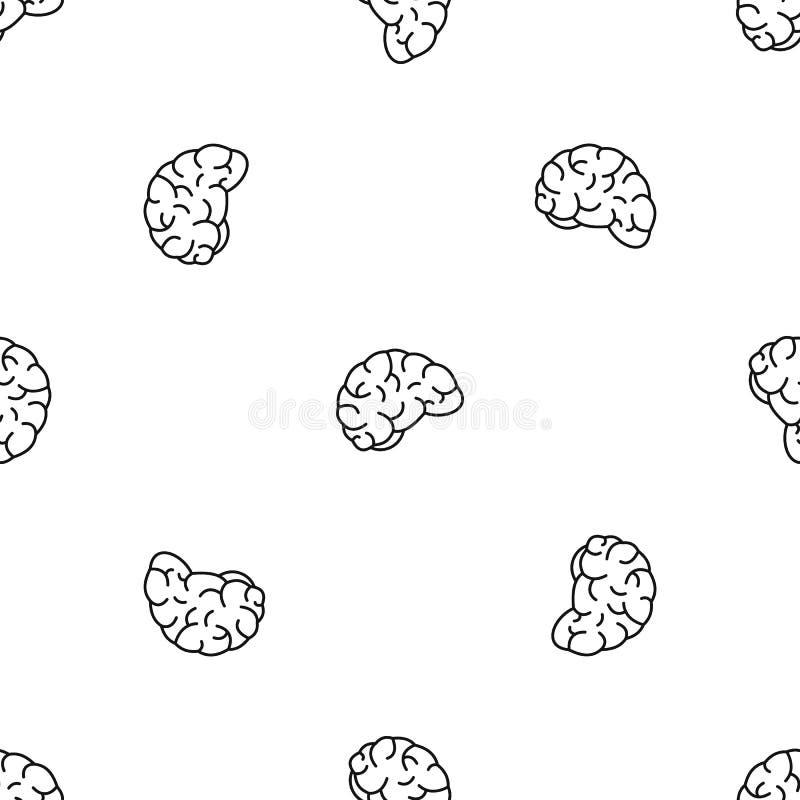 Myślącego mózg wzoru bezszwowy wektor royalty ilustracja