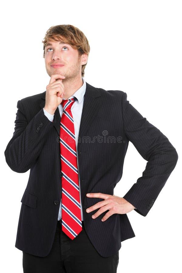 Myślący biznesowy mężczyzna zdjęcia royalty free