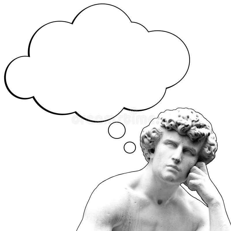 Myślący mężczyzna royalty ilustracja