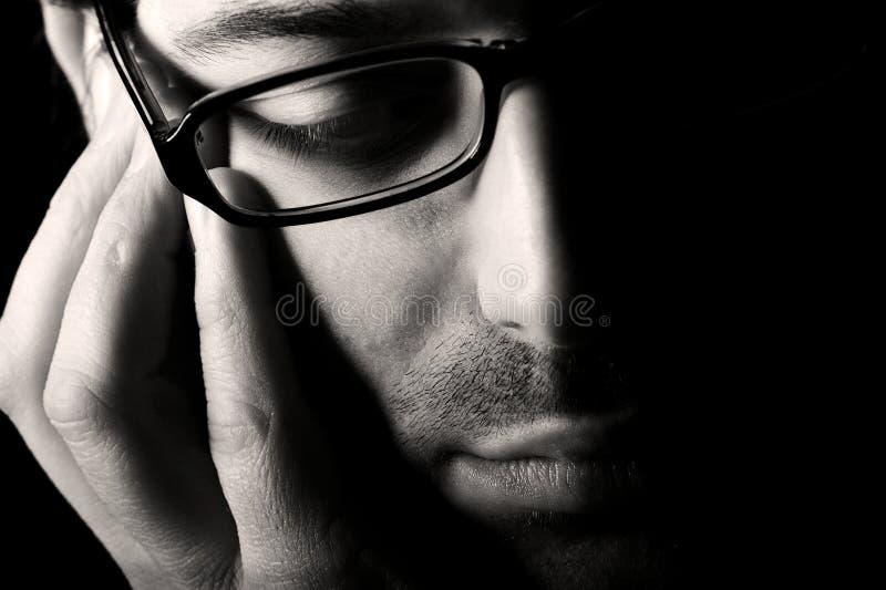 myślący mężczyzna potomstwa zdjęcie stock