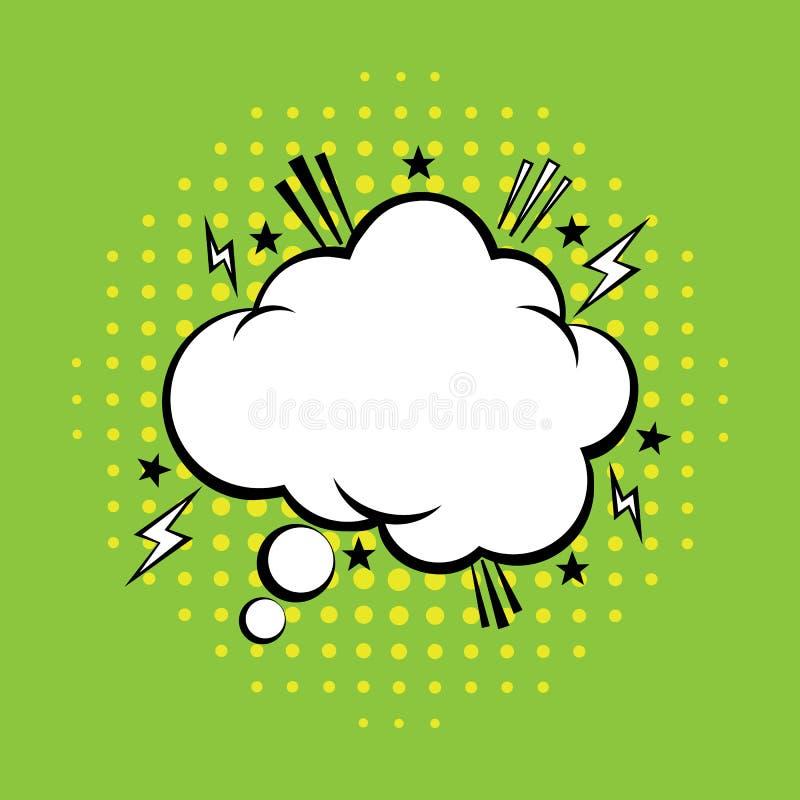 Myśl bąbel w wystrzał sztuki komiczek stylu Komiczny mowa bąbel również zwrócić corel ilustracji wektora ilustracji
