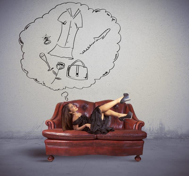 Myśl o zakupy zdjęcia royalty free