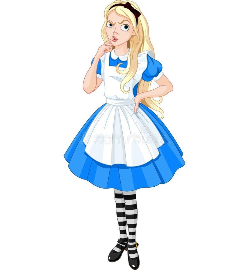 Myśleć Alice royalty ilustracja
