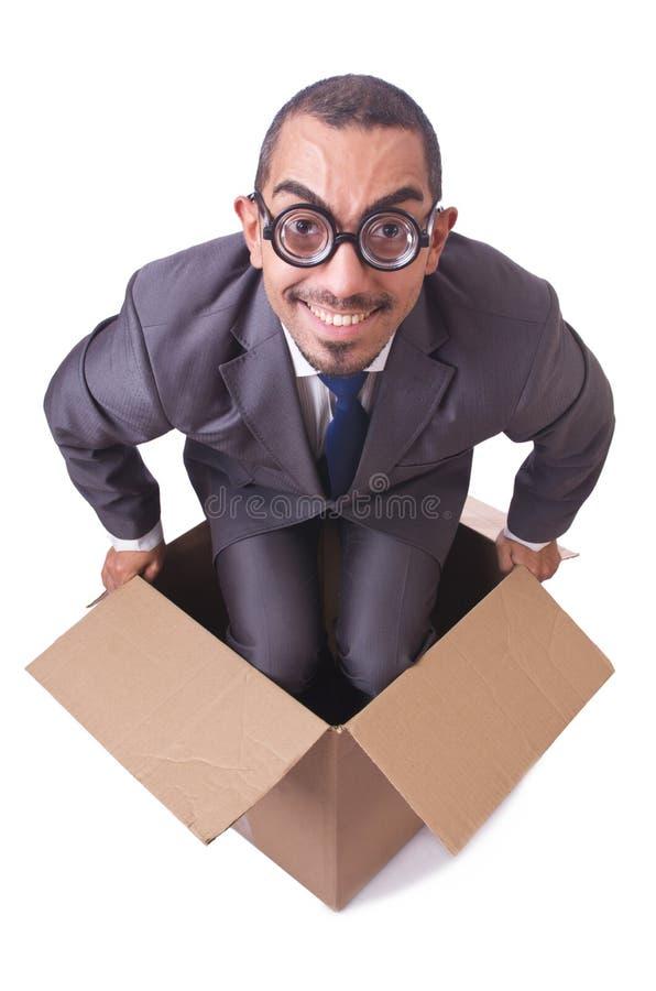 Myśleć z pudełka obraz stock