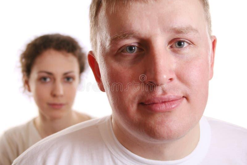 myślenie swojego mężczyznę. zdjęcie stock