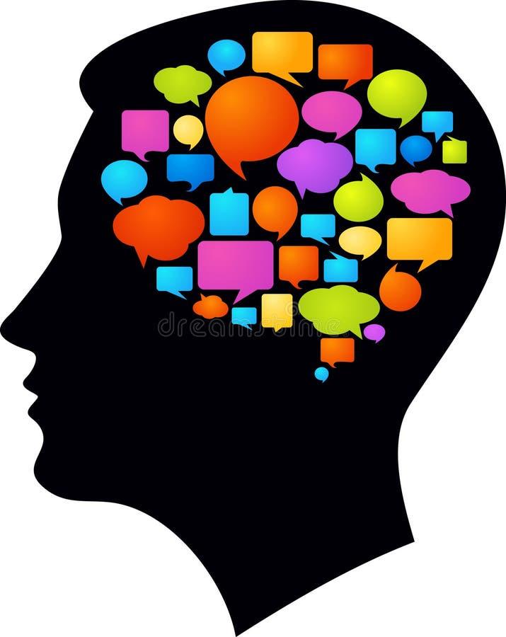 Myśli i pomysły ilustracja wektor