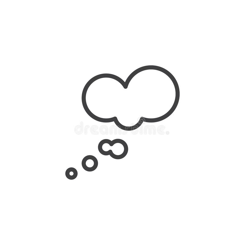 Myśli mowy bąbli konturu ikona ilustracji
