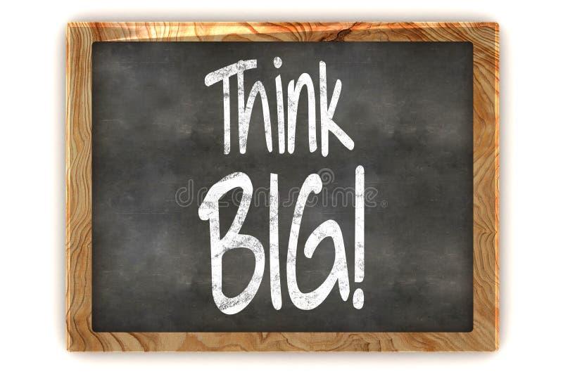 Myśli pojęcia Duży Blackboard ilustracji