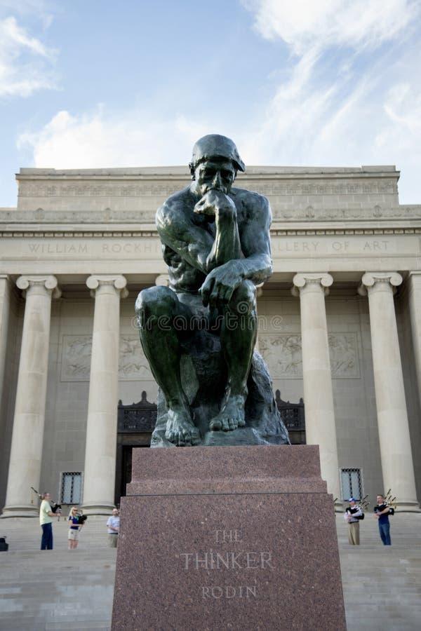 Myśliciel statua zdjęcie royalty free