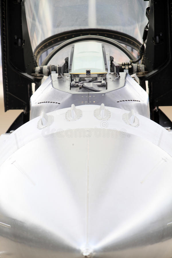 Myśliwa odrzutowego kokpit zdjęcie royalty free