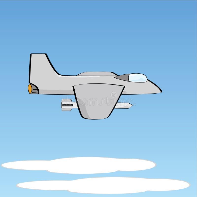 myśliwa samolot ilustracja wektor