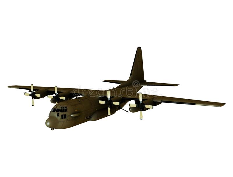 Myśliwa samolot z bronią ilustracji