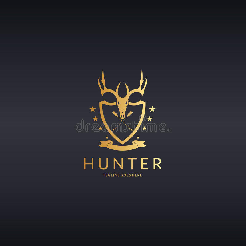 Myśliwego logo ilustracja wektor