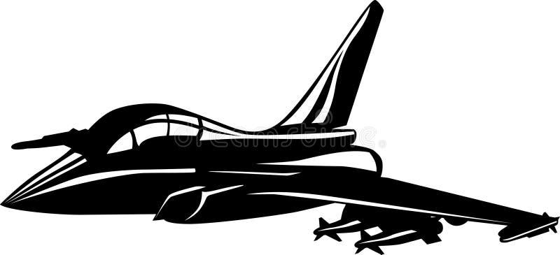 myśliwiec royalty ilustracja