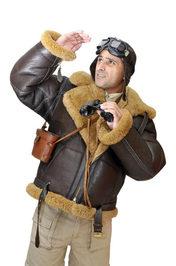 myśliwski pilot zdjęcie stock
